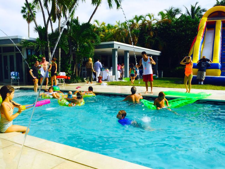Aquassurance Lifeguard keeping guests safe in a Miami Beach pool party!