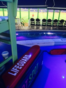 Aquassurance lifeguards for the Clevelander at Marlins Park.