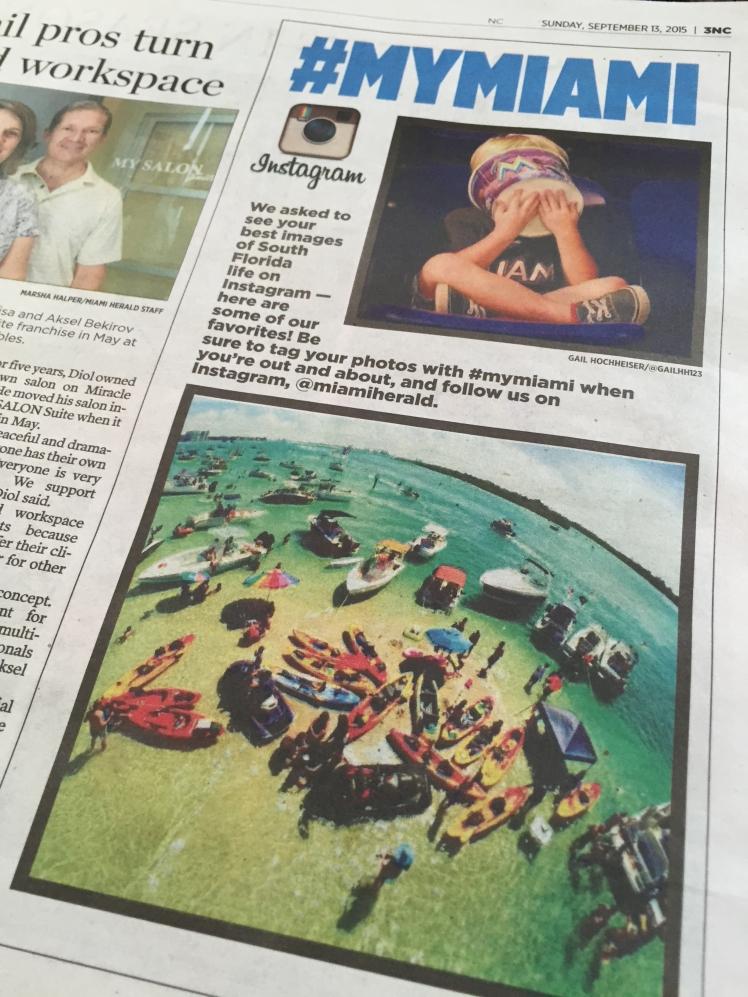 Aquassurance photo (bottom) in the Miami Herald.